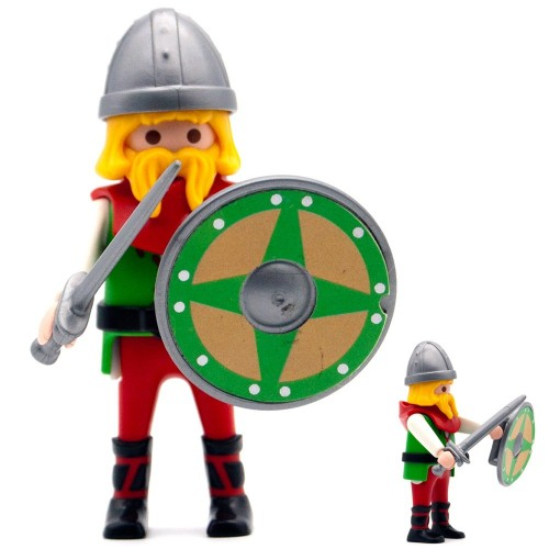 Vikingo Rojo - Serie Playmobil 3150 3151 3152 3153