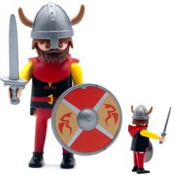Guerriero vichingo rosso-serie Playmobil 3150 3151 3152 3153