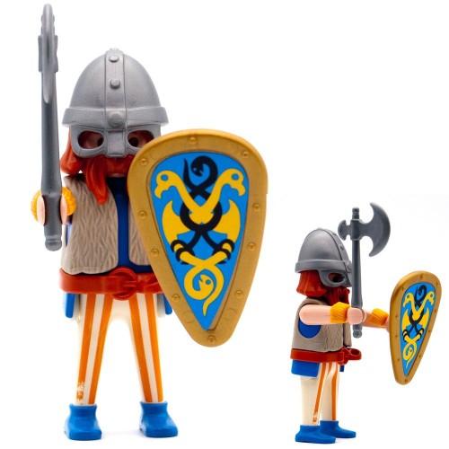 Maschera casco di guerriero vichingo - serie Playmobil 3150 3151 3152 3153