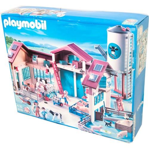 5119 ferme avec Silo - Playmobil - nouvelle offre décolorés boîte