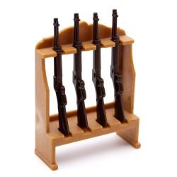 Sotto armaiolo dell'ovest con fucili Playmobil - Western