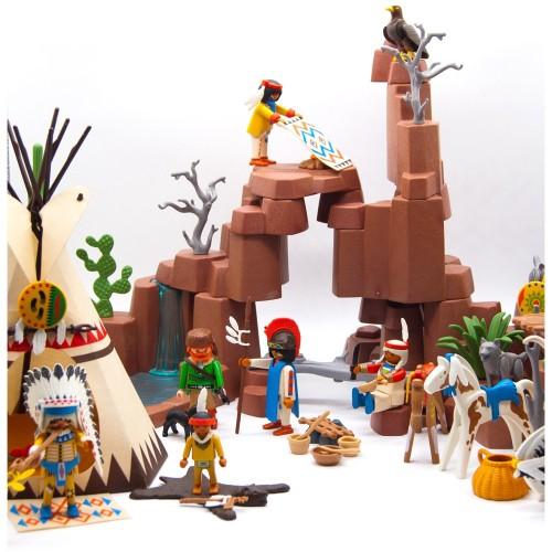 3870 - Poblado Indio Oeste Campamento - Playmobil 1966 Western - OCASION
