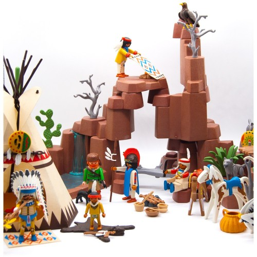 3870 West Indian village camp - Playmobil 1966 Western - occasion