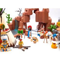 Occasione di camp - Playmobil Western - West villaggio indiano 3870