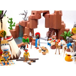 3870 Indian village West camp - Playmobil Western - occasion